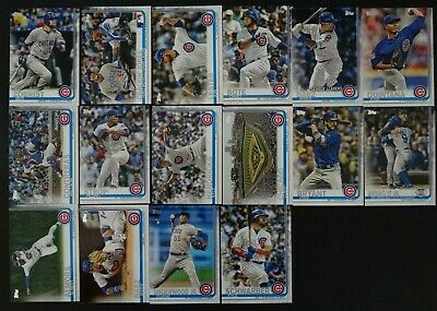 2019 Topps Series 1 Chicago Cubs Team Set 16 Baseball Cards