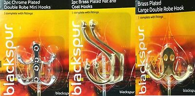 Chrome Plated Double Robe Mini Hooks Brass Plated Hat&Coat Hook Double Robe Hook