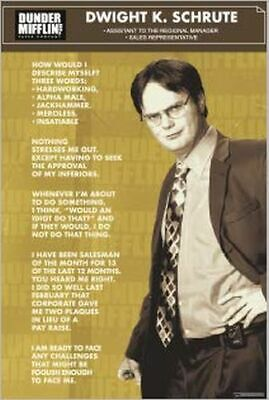 DWIGHT - THE OFFICE - TV SHOW POSTER 24x36 - 53112