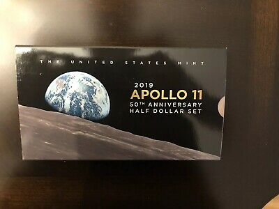 2019-S Apollo 11 50th Half Dollar Two Coin Proof Set 19CF With Rare Kennedy Half