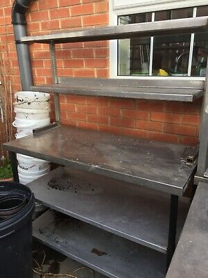 Stainless Steel Catering Table With Accessories shelf