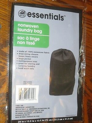 """Home Store Non Woven Laundry Bag 28in H X 12.5/"""" X 12.5/"""" Draw String Closure RED"""