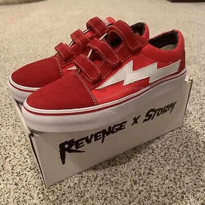 27871a1daca906 Ian Connor Revenge X Storm Low Top Velcro Red Size US 10 Sneakers 1 ...