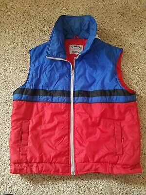 Vintage Hipster Puffer Vest 1980s Current Seen Fashion Outerwear XL