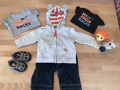 Old Navy; Carter's; Beanie Boos; 9 Piece Mixed Lot; Baby Boy NB, 3M; 3-6M