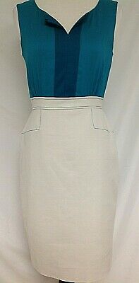 798cf5de873 Antonio Melani Teal Green and Beige dress Size 2
