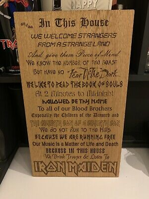 Iron Maiden Wooden In This House Poster Board