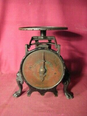 Antique Ornate Cast Iron & Brass Turnbull's Family Scale