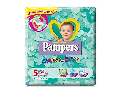 51 Pannolini Pampers baby dry taglia 5 ( 11 - 25 kg )