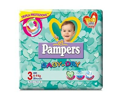 60 Pannolini Pampers baby dry Taglia 3 ( 4 - 9 kg )