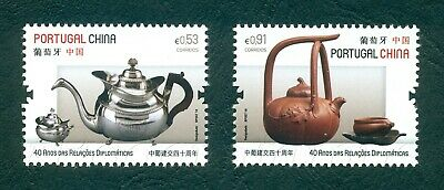 Portugal 2019 Joint Issue Portugal/china 2 Stamps Mnh