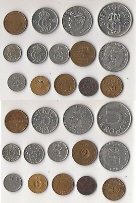 SUECIA. SWEDEN. Lote de 14 monedas diferentes. Lot of old coins