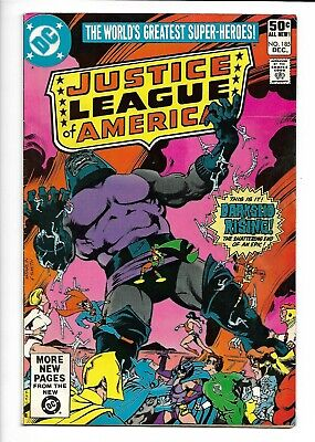 Justice League of America #185 DC 1980 VF- 7.5 Darkseid app. Jim Starlin cover.