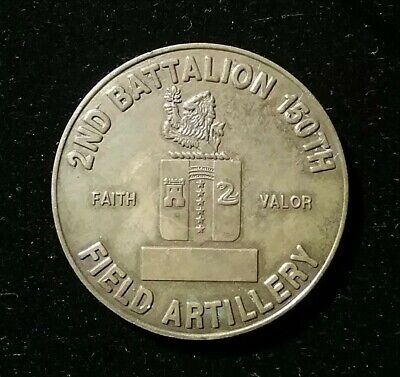 US Army 2nd Battalion 150th Field Artillery Raiders 1st Rare Old Challenge Coin