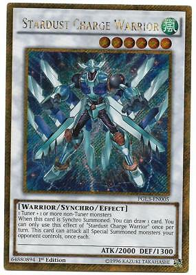 STARDUST CHARGE WARRIOR GOLD RARE FRENCH PGL3-EN005 FR005 NEAR MINT YUGIOH