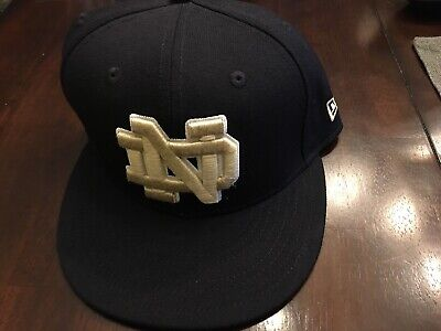 94114e67514 Notre Dame Fighting Irish New Era 5950 59FIFTY Fitted Hat Cap Hat Size 7 1