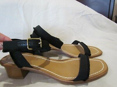 07312e64594 New J. Crew Women  s Size 7.5 Grosgrain Ribbon Sandals Shoes in Black G4814