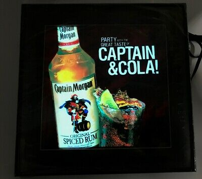Captain Morgan Rum Captain and Cola Lighted Animated Bar Sign