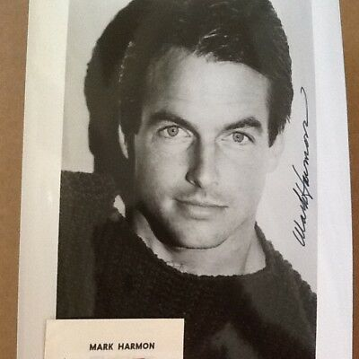 Mark Harmon SIGNED 8x10 Photo St. Elsewhere NCIS  Young & Sexy Great Face!!