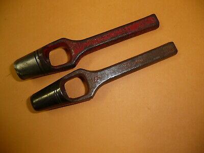 """Old VBW  Wad Punches 5/8"""" & 1/2"""" Leather ? hole punch cutters"""
