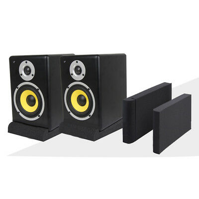 Acoustic Isolation Foam Pads For Recording Sponge Studio Monitor Speaker Black