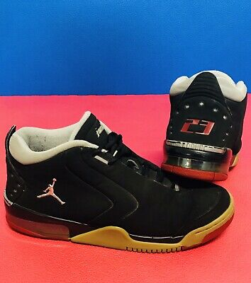 new concept 6325e b9bed Nike Air Jordan Shoes Big Fund Black Metallic Silver Grey Red 310003 Size 10