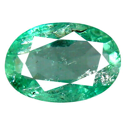 0.86 ct Lovely Oval Cut (7 x 5 mm) Colombian Emerald Natural Gemstone