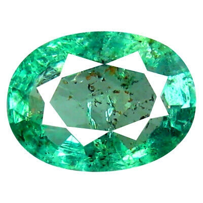 0.78 ct Magnificent Oval Cut (7 x 5 mm) Colombian Emerald Natural Gemstone