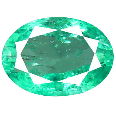 0.65 ct Eye-opening Oval Cut (7 x 5 mm) Colombian Emerald Natural Gemstone