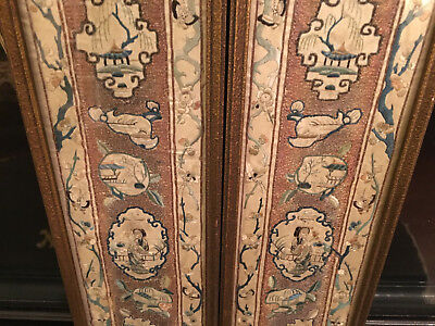 A Pair Excellent Chinese Qing Dynasty Textile Panels, Framed #2.