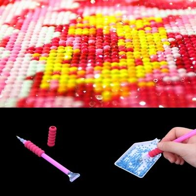 10x 5D Painting Diamond Rhinestone Stitch Pen Cover DIY Embroidery Dotting Tool