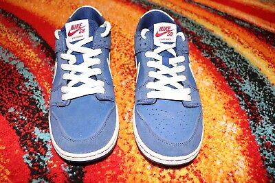 new styles 8d04a b5020 Nike SB Dunk Low Pro Ishod Wair Size 9 Deep Royal White-Gym Red