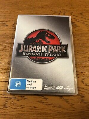 JURASSIC PARK*Ultimate Trilogy*3 X DVD*REGION 4*Excellent Condition