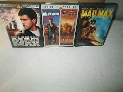 MAD MAX 1 2 3 & 4 rare Road Warrior Quadrilogy dvd Set MEL GIBSON Apocalypse 80s