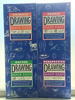 Drawing Made Easy - Set of 4 - People, Animals, Nature, Perspective