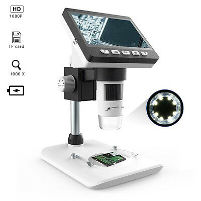 "1000X 4.3"" HD LCD Monitor G700 Electronic Digital Video Microscope LED Magnifier"