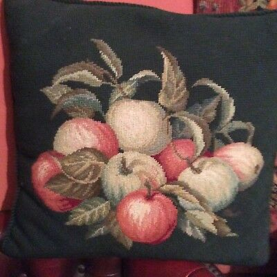 "Completed Beverley Tapestry Cushion "" Apples """