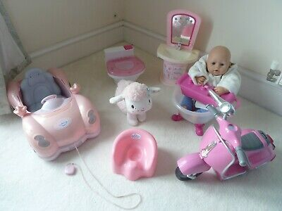 Baby Annabell Bundle  CAR, BATH , SINK TOILET AND MORE