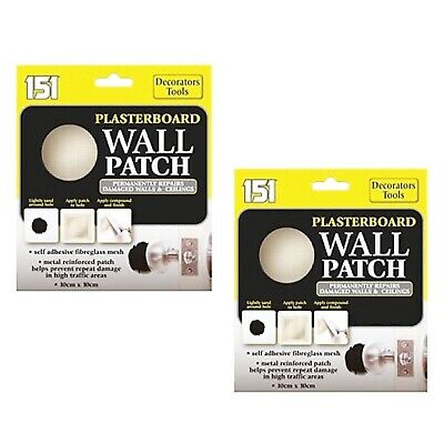 2 x Permanent Plasterboard Wall Patch Patches Repairs Damaged Walls & Ceilings