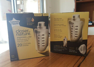 Tommee Tippee Closer to Nature Express and Go Pouches 20 pack (1 box)-brand new