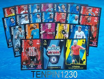 Match Attax 2018/2019 Base Cards X 10 To Complete Your Collection