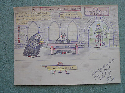 OLD CARTOONS: To The Cloisters.