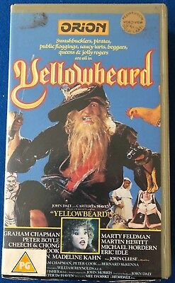 Yellowbeard Betamax Ex-Rental Video. PAL. Pre Cert