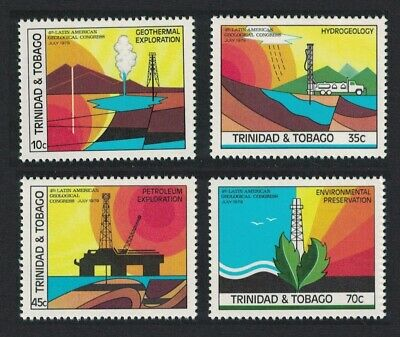 Trinidad and Tobago 4th Latin American Geological Congress 4v MNH SG#539-542
