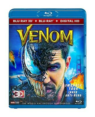 Venom (Blu-ray 3D & 2D, 2018) + The Grinch (Blu-ray 3D & 2D, 2018) Region Free *