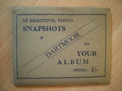 12 Photo Snapshots Of Dartmoor, Vintage Sepia Cards In Pack