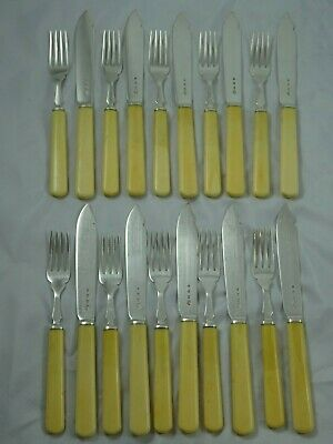 QUALITY set solid silver FISH CUTLERY, 1939
