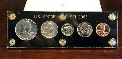 1963 US Proof Set In Black Capital Holder -- Lowest Buy it Now--HURRY!!