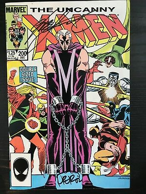 UNCANNY X-MEN #200 VF+ 1st Print SIGNED by CHRIS CLAREMONT + JOHN ROMITA JR