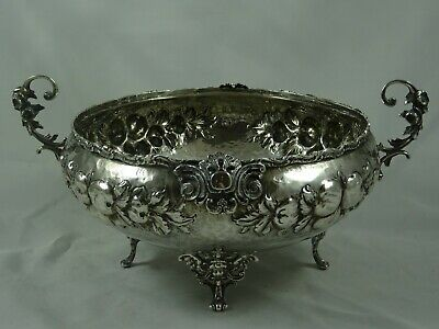 STUNNING solid silver ROSE BOWL, c1960, 541gm